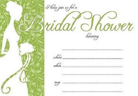 free bridal shower templates bridal shower invitations easyday
