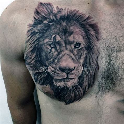 fierce lion tattoos designs on chest designs ideas and meaning tattoos
