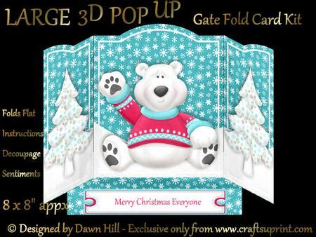 large  pop  gate fold merry christmas  cup craftsuprint