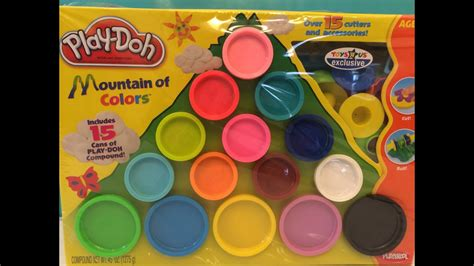 play doh colors play doh mountain of colors