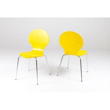 chaises jaunes 4 chaises design jaune jaune achat vente