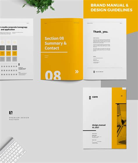 hand book layout design core brand manual guidelines on behance graphic design