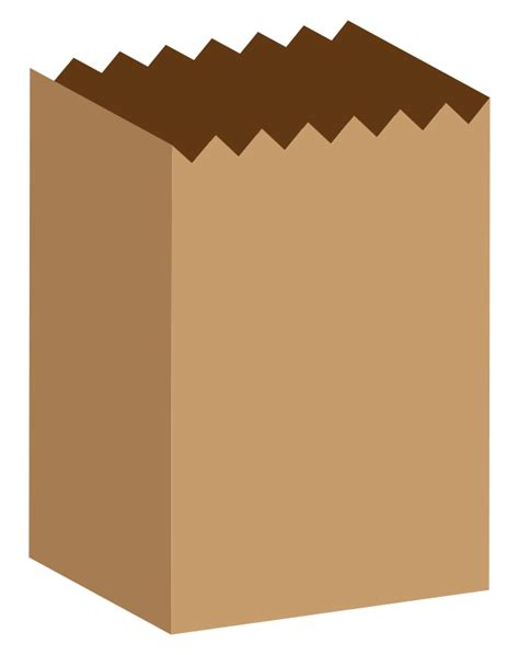 Paper Bag - free simple brown paper bag clip