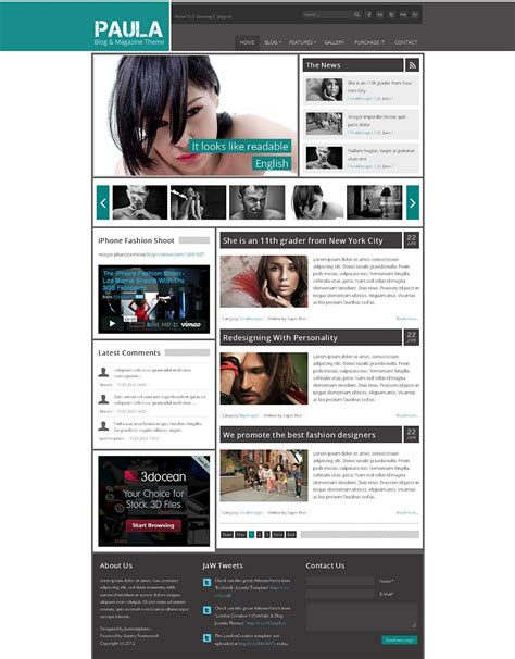 joomla blog layout template paula blog magazine joomla theme by jawtemplates