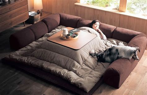 kotatsu bed japan kotatsu heated table bed 171 inhabitat green design innovation architecture green building