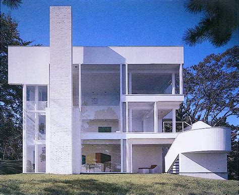 smith house the smith house by richard meier in darien ct photograph exterior view