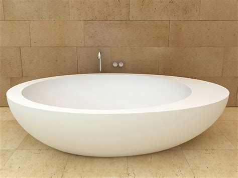 oval bathtubs freestanding oval ceramic bath by ceramica cielo