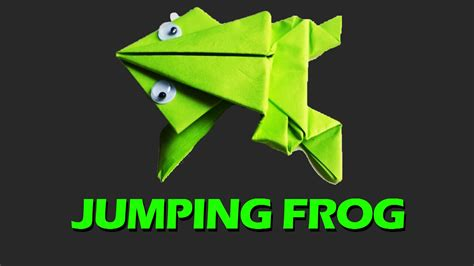 Frog Origami Jumping - origami how to make an origami jumping frog from an index