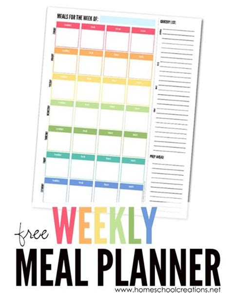 printable meal planner with snacks homeschool a well and wells on pinterest