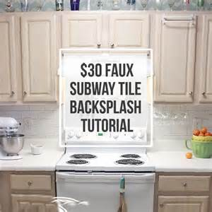 hometalk 30 faux subway tile backsplash diy