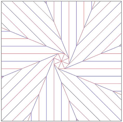 Origami Flasher - patron spin octogonal origami lines valley folds
