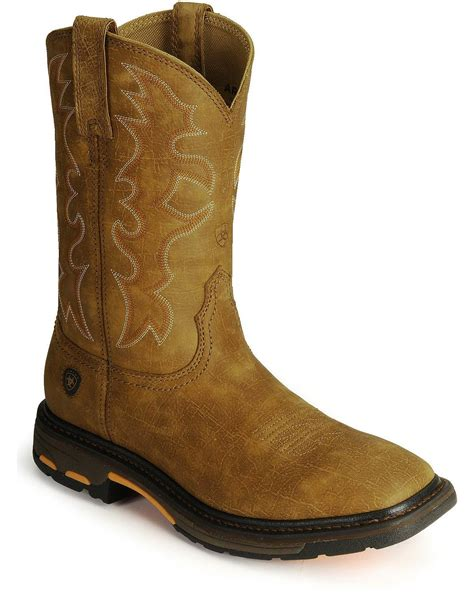 ariat work boots ariat s workhog western work boot steel square toe