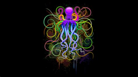 design by humans shirt of the day octopus psychedelic luminescence from design by humans