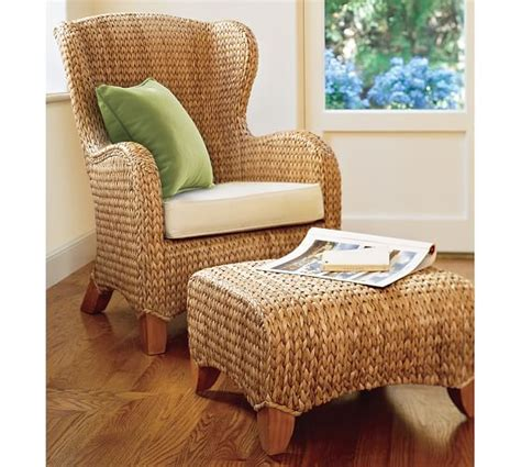 seagrass wingback armchair seagrass wingback armchair pottery barn