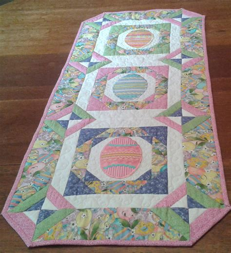 Quilted Easter Table Runner Pattern by Quilted Easter Table Topper Table Runner By
