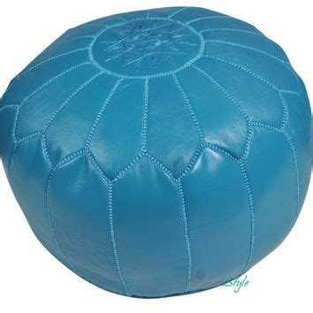 turquoise round ottoman best pouf ottoman turquoise products on wanelo