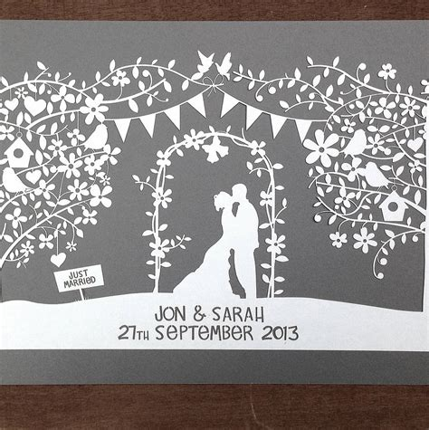 wedding papercut template opiniones de papercut