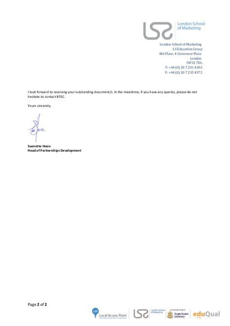 Anglia Ruskin Mba Accreditation by Kaissar Barik Hnaidi Offer Letter Master Of Business