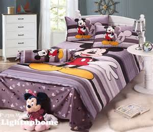purple stripe mickey mouse bedding disney bedding sets