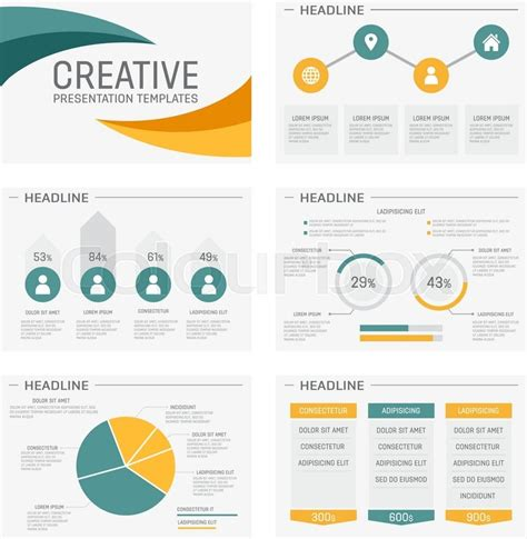 free powerpoint charts and graphs templates vector template for multipurpose presentation slides with