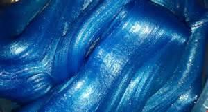 metallic blue sensory slime