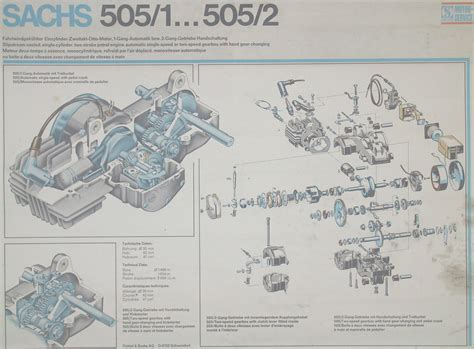 sachs   exploded diagram  engine moped army