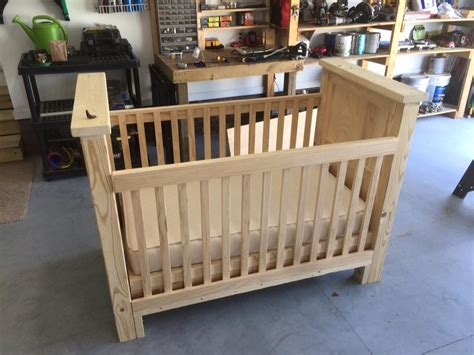 Ana White Rustic Baby Crib Diy Projects Rustic Baby Cribs