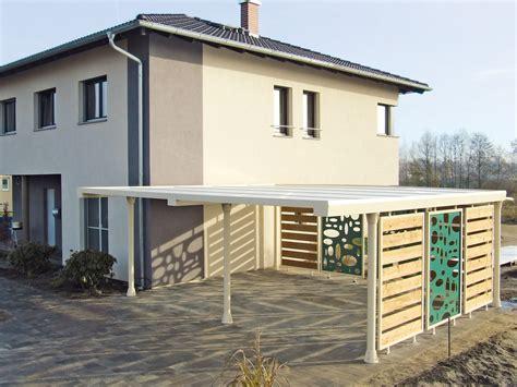 Carport Neben Haus by M 252 Lltonnenverkleidung Und Carport Wie Aus Einem Guss Unter