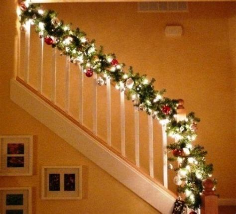 lighted garland for staircase best 25 christmas staircase ideas on pinterest