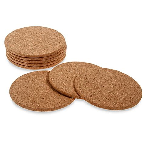 bed bath and beyond coasters buy cork coasters set of 8 from bed bath beyond