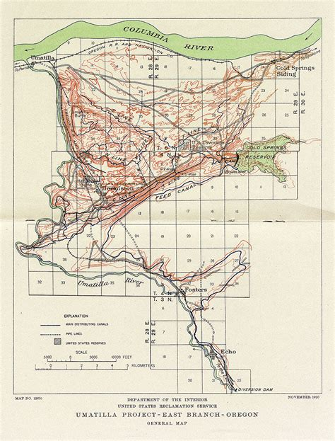 map of umatilla oregon umatilla project map 1910
