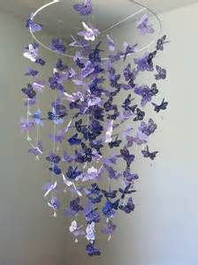Baby Chandelier Mobile Butterfly Mobile Chandelier Mobile Purple Baby Mobile