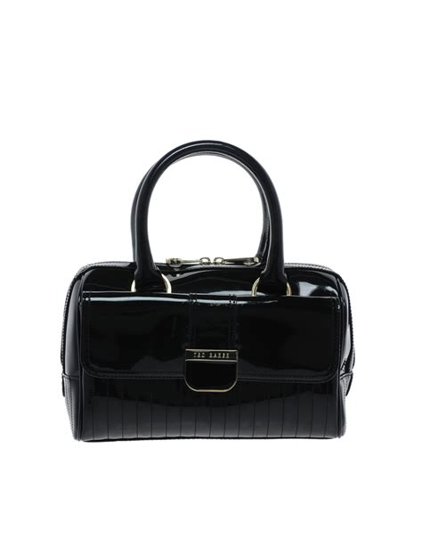 Miu Miu Patent Mini Bowling Bag by Lyst Ted Baker Marquez Patent Mini Bowling Bag In Black