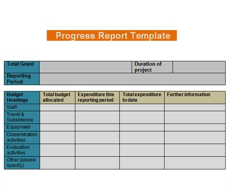 team progress report template 2 professional and high