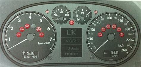audi a6 dashboard warning lights audi a6 c5 dash lights