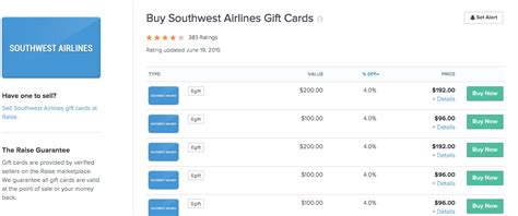 Southwest Airlines Gift Card Deals - up to 9 5 off southwest airlines gift cards deals we like