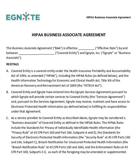 28 Business Agreement Forms Sle Templates Hipaa Business Associate Agreement Template