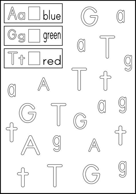 alphabet recognition coloring pages link to letter recognition worksheets color the boxes