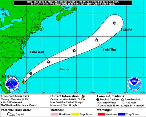 2015 projected path hurricane danny national hurricane center tropical storm kate strengthens