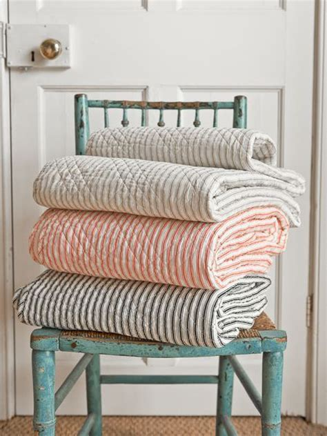 striped quilts and coverlets quilted ticking stripe coverlets home pinterest