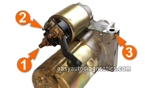 where is starter motor part 1 how to test the starter motor on the car step by
