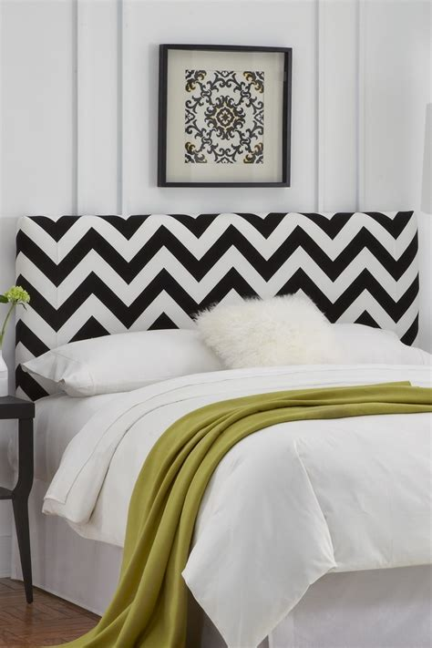 White And Black Headboard by 40 Chevron Home Accessories To Shop Around For