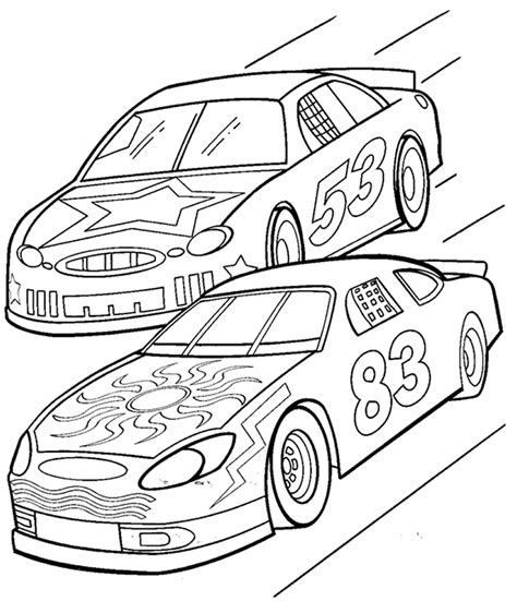 coloring page of race car driver race car coloring pages