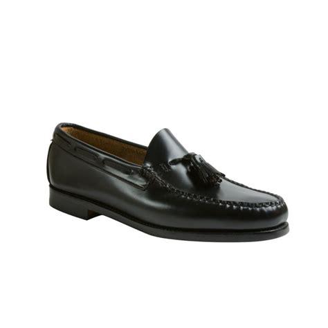 mens bass weejuns loafers bass larkin weejun tassel loafers in black for lyst