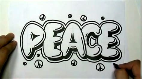 how to write cool letters on paper how to draw peace in graffiti letters write peace in