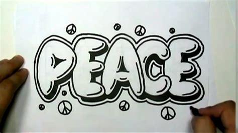 draw peace  graffiti letters write peace