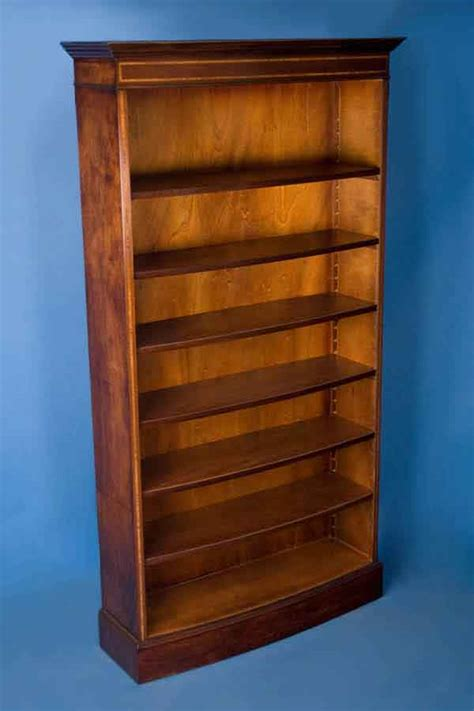 antique style mahogany bow front bookcase