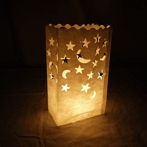 How To Make Luminaries With Paper Bags - moon paper luminaries luminary lantern bags path
