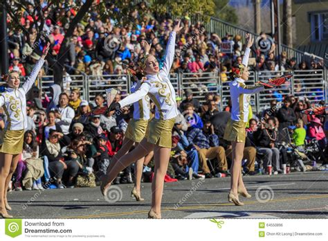 rose parade at pasadena california usa january 1 2016