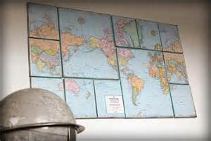 wall map for room 15 easy diy wall ideas you ll fall in with